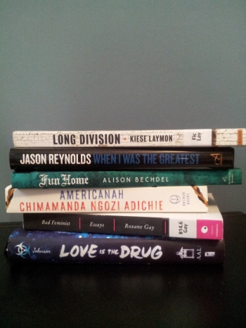 Some recent purchases (and two borrows) that follow my self-imposed rules.